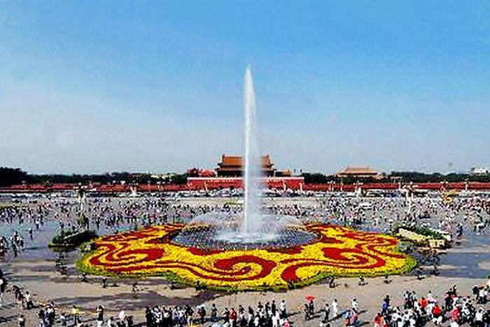2007天安门广场国庆花坛