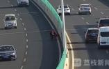 老人推三轮车高架逆行 民警及时处置(视频)