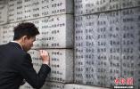 """南京大学生为大屠杀遇难者名字""""描新""""寄哀思(图)"""