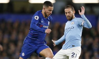 Chelsea beats Manchester City 2-0 during English Premier League