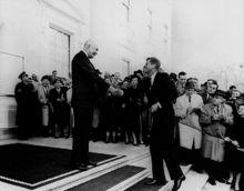 胜选后会见艾森豪威尔总统