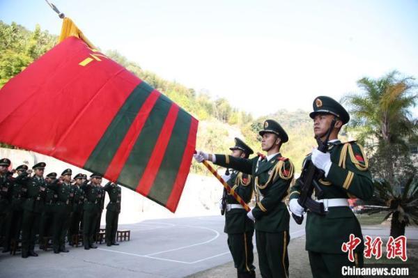 福建武警新兵举行2019年度新兵授衔仪式