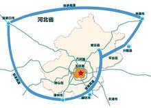 北京大外环高速公路示意图