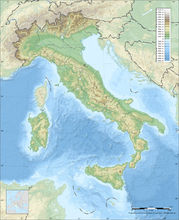 意大利地形图