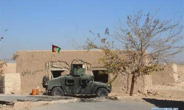 Afghan security force members take part in military operation in southern Afghanistan