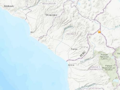 秘鲁塔拉塔东北部发生4.5级地震 震源深度172千米
