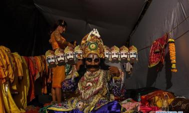 Dussehra festival celebrated in Mumbai, India