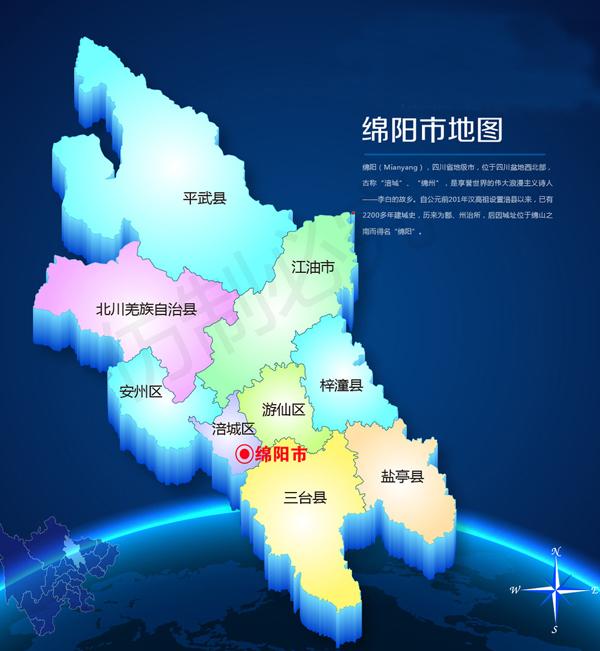 绵阳行政区划