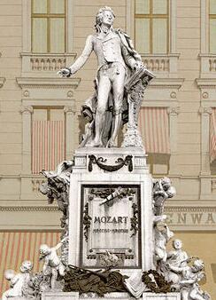 莫扎特纪念雕像