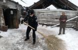 内蒙古呼伦贝尔普降大雪 局地积雪达15厘米