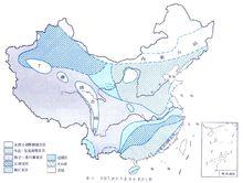 中国寒武纪生物地理分布图