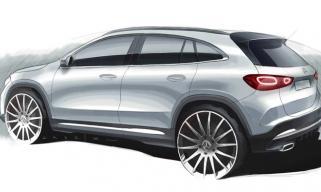 全新奔驰GLA新预告图发布 放弃现款两厢掀背式设计
