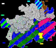 贵州民族分布示意图