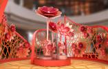 香港 ifc 商场呈献「丰盛花开福满庭」风车花园