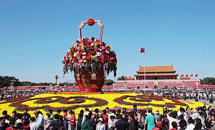 2009天安门广场国庆花坛