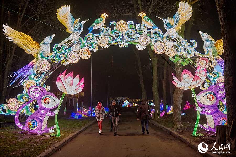 第二届中国彩灯展在基辅开幕