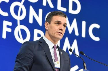 西班牙首相桑切斯出席世界经济论坛2020年年会