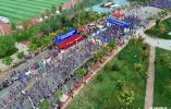 航拍齐河马拉松:生态齐河有水有塔,最美马拉松赛道!