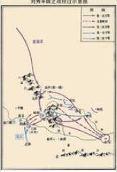 刘秀平陇之战示意图