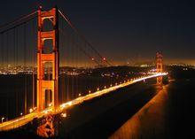 金门大桥及旧金山夜景