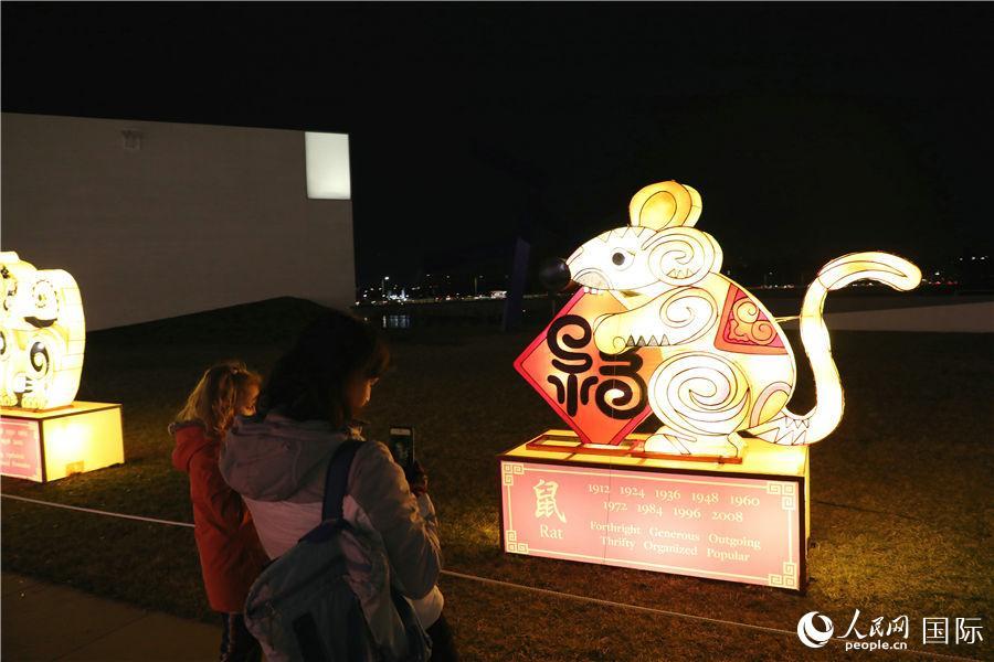 华盛顿点亮中国花灯迎新春