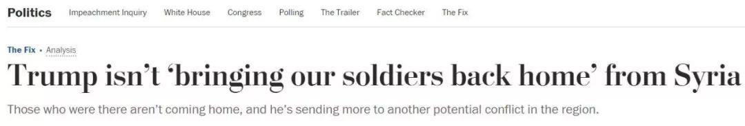 特朗普要带美军回家?美媒:不,他向中东派遣了更多美军