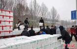 山东省捐赠首批350余吨新鲜蔬菜启运驰援武汉