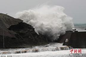 强台风登陆日本:致2死78伤 东京发大雨最高警报